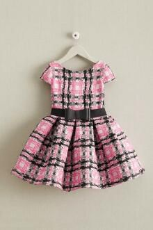 ღ¸.•❤ ƁҽႦҽ ღ .¸¸.•*¨*• Zoe Pretty In Pink Plaid Girls Dress
