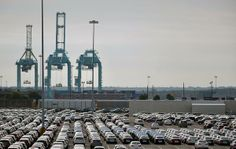 Automobiles lining up to be shipped from the JAXPORT Blount Island Marine Terminal. (From Jacksonville Business Journal story on dredging issue: http://www.bizjournals.com/jacksonville/news/2013/12/02/ranking-transportation-democrat-nick.html )