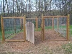 Cheap Dog Fence Ideas | garden fence.... but would also be a cheap way to make a fenced in ... #DogRun