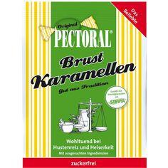 PECTORAL Brustkaramellen zuckerfrei Beutel:   Packungsinhalt: 60 g Bonbons PZN: 06310523 Hersteller: WEPA Apothekenbedarf GmbH & Co KG…