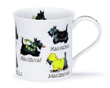 Lovely Dunoon Machoots Fine Bone China Mug Bute Shape Scottie Dog Design