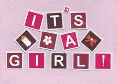 'Baby Girl' Handcrafted Card