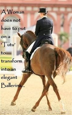"A woman does not have to put on a 'Tutu"" to transform into an elegant ballerina.."