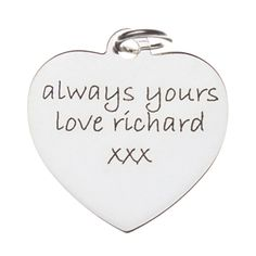 Offer this engraved pendant for Valentine's Day.