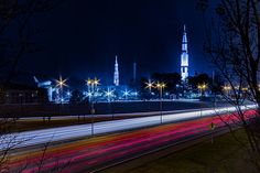 U.S. Space and Rocket Center Huntsville, AL with highway stock photo