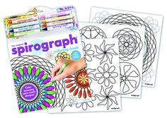Spirograph Colouring Book - perfect for younger Spirograph fans. #spirograph #kidsspirograph #kidscolouringbook