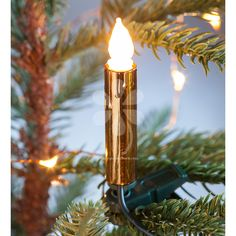 Our sets of clip-on candle lights give a classy makeover to your tree. Choose from: Copper effect or Silver effect finish.