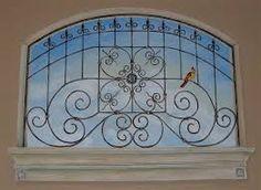 Resultado de imagen para how to paint trompe l'oeil wrought iron