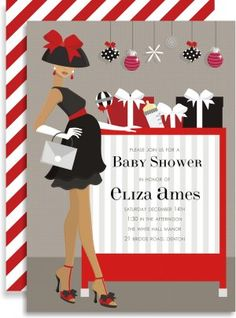 """""""Christmas Crib"""" baby shower invitation from http://www.rossomersquare.com"""
