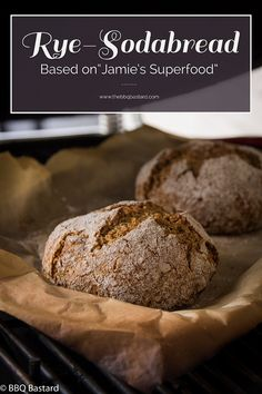 """Rustic Rye-Sodabread from """"Jamie's Superfood"""". Delicious fool proof recipe made on the BBQ. No knead no rising and oven convertable for those scared of using a BBQ in winter times :)"""