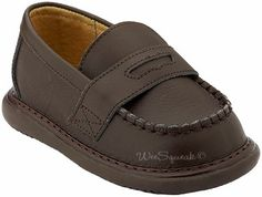 Boys Brown Leather Penny Loafer Dress Shoes Wee Squeak Footwear