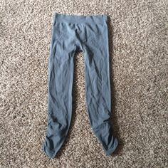 SO Ruched Grey Leggings Stretchy grey FULL LENGTH leggings. They are very deceiving! The ankles are ruched but stretch when worn. On the thinner side. Only worn a couple of times. SO Pants Leggings