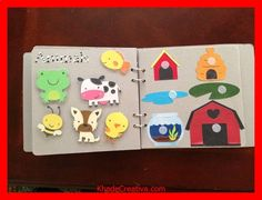 KhadeCreativa.com Laminated busy book, it looks so cute and sturdy! I wanna make one for the various kiddies in my life. Details here: http://www.reddit.com/... source by :http://pinterest.com/pin/504895808200125586/