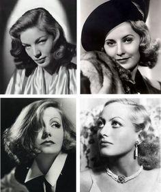Nos anos 30 os cabelos sempre bem cuidados,época em que os cachos eram valorizados...mas tudo elegantemente bem alinhado.