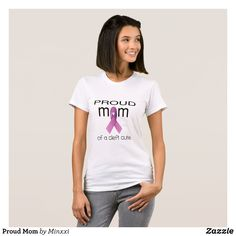 Proud Mom T-Shirt - Fashionable Women's Shirts By Creative Talented Graphic Designers - #shirts #tshirts #fashion #apparel #clothes #clothing #design #designer #fashiondesigner #style #trends #bargain #sale #shopping - Comfy casual and loose fitting long-sleeve heavyweight shirt is stylish and warm addition to anyone's wardrobe - This design is made from 6.0 oz pre-shrunk 100% cotton it wears well on anyone - The garment is double-needle stitched at the bottom and sleeve hems for extra…
