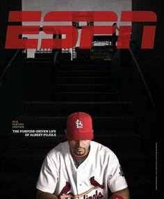 ESPN 2010 Cover    MLB Fantasy Preview: Albert Pujols Albert Pujols, St Louis Cardinals, Magazine Design, Espn, Mlb Fantasy, My Eyes, Sport Design, Magazine Covers, Athletes