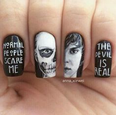 Such beautiful Tate Langdon nails, whoever made these deserves to be the Supreme!