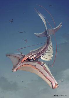 Creature design: Sky Lobster by XAQT.deviantart.com on @DeviantArt