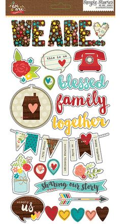 Simple Stories - We Are Family Collection - Chipboard Stickers at Scrapbook.com