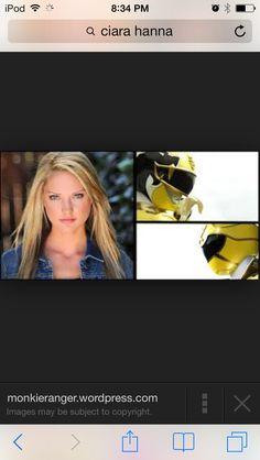 Ciara Hanna power rangers mega force yellow tiger