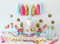 Tropical Aloha themed Bridal Shower via Kara's Party Ideas   KarasPartyIdeas.com (3)