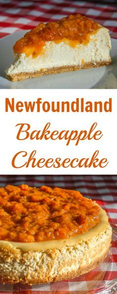 Bakeapple is the Newfoundland word for Cloudberry, a deliciously intense northern berry that makes for an amazing topping on a creamy vanilla cheesecake. Canadian Cuisine, Canadian Food, Canadian Recipes, Canadian Culture, Just Desserts, Delicious Desserts, Yummy Food, Yummy Yummy, Delish