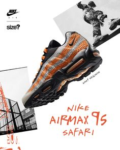 To Exclusively Release A Nike Air Max 95 Safari Air Max 95, Nike Air Max, Nike Design, Best Sneakers, Sneakers Fashion, Sneakers Nike, Nike Shoes, Nike Poster, Sneaker Posters