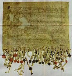 """Picture of the only surviving copy of The Declaration of Arbroath, signed on April 6, 1320, one of the most famous documents in Scottish history... """"As long as but a hundred of us remain alive...never will we on any conditions be brought under English rule. It is in truth not for glory, nor riches, nor honours that we are fighting, but for freedom--for that alone, which no honest man gives up but with life itself."""" (more at the link)"""