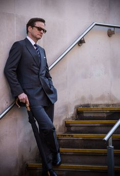 Behind the Scenes - Colin Firth, Kingsman: The Secret Service (Matthew Vaughn, Kingsman Suits, Kingsman Harry, Kingsman Movie, Colin Firth Kingsman, Taron Egerton Kingsman, Kingsman The Secret Service, Matthew Vaughn, British Style Men, Kings Man