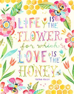 Love Is The Honey vertical print