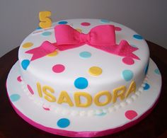 Bright polka dots cake