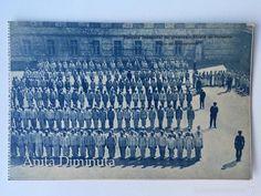 RARA Y ANTIGUA POSTAL DE ALCALA DE HENARES - ESCUELA INDUSTRIAL DE JOVENES - PATIO DE FORMACIONES - (Postales - España - Comunidad de Madrid Antigua (hasta 1939) - Madrid Provincia)