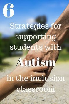 Some great strategies for Supporting Students with Autism in Inclusion. A resource for general and special education Supporting Students with Autism Inclusion Classroom, Autism Classroom, Special Education Classroom, Elementary Education, Free Education, School Classroom, Autism Activities, Autism Resources, Teacher Resources