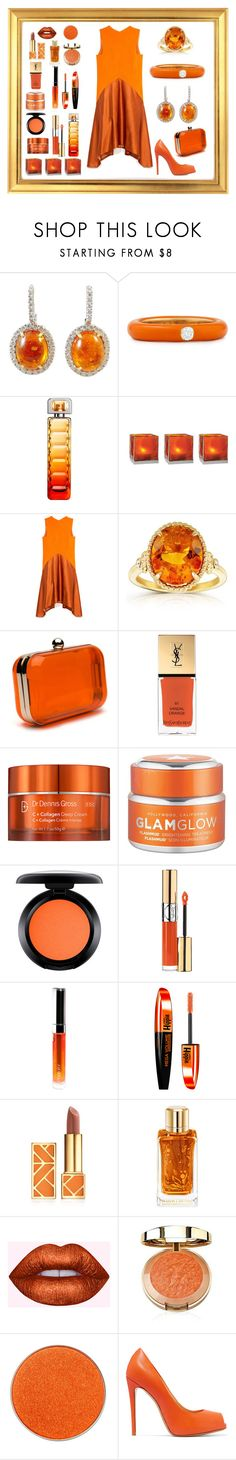 """Just Girl Glam"" by mcronald-denise ❤ liked on Polyvore featuring Adolfo Courrier, HUGO, Cultural Intrigue, Narciso Rodriguez, Kobelli, Yves Saint Laurent, Dr. Dennis Gross Skincare, GlamGlow, MAC Cosmetics and By Terry"