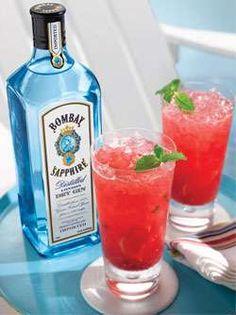 Sapphire Raspberry Mint Cocktail Photo
