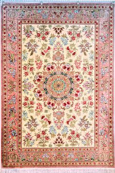 Floral Silk Persian Rug You pay: $9,900.00 Retail Price: $21,000.00 You Save: 53% ($11,100.00) Item#: FA-2 Category: Small(3x5-5x8) Persian Rugs Design: Size: 140 x 200 (cm) 4' 7 x 6' 6 (ft) Origin: Persian, Qum (Qom) Foundation: Silk Material: Silk Weave: 100% Hand Woven Age: Brand New KPSI: 800