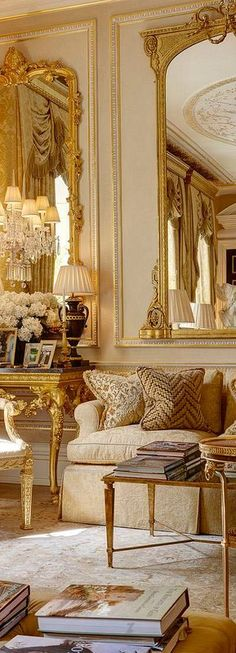 French Style Living Room: Home Interior Design