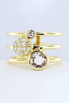Tiara Fine Jewelry Morganite Diamond Ring Размеры Колец, Кольца С  Бриллиантами, Ювелирные Украшения 9550cea7b3f