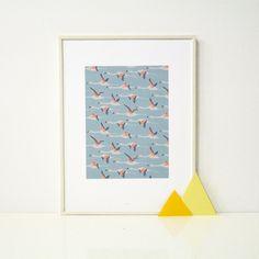 Season Paper Collection / Affiche Flamingo  http://www.seasonpapercollection.com/