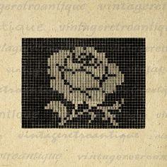 Rose Flower Image Printable Download Retro by VintageRetroAntique