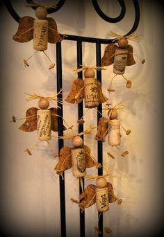 wine cork angels cute childrens craft make for school ,nursery , art club or fair for christmas tree decorations Wine Craft, Wine Cork Crafts, Wine Bottle Crafts, Wine Bottles, Diy Christmas Angel Ornaments, Christmas Angels, Christmas Decorations, Snowman Ornaments, Christmas Tree