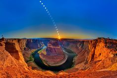 The image above captures the remarkable experience of viewing the annular solar eclipse of May 20, 2012 at Horseshoe Bend on the Colorado River in Northern Arizona.