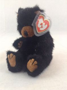 6ee5fc40392 1993 Ty Attic Collection Beanie Baby Ivan The Black Bear Stuffed Jointed  Plush