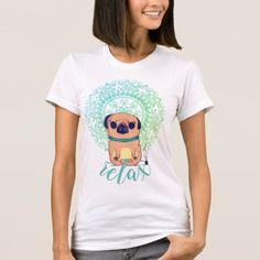 Zen Pug T-Shirt   how to yoga, yoga transitions, yoga for beginners flexibility #yogalove #healthybody #healthylifestyle, 4th of july party Beginner Yoga Workout, Yoga Workouts, Yoga For Beginners Flexibility, Face Yoga Method, Yoga Workout Clothes, American Apparel, Pugs, Zen, Fitness Models
