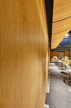 On The First Floor Viewing Gallery We Installed New Lambri Microperforated Timber Wall Panels With