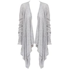 Line Knitwear Manuela Wrap Cardigan in Heather Grey ($230) ❤ liked on Polyvore