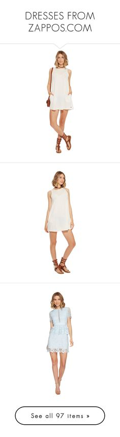 """""""DRESSES FROM ZAPPOS.COM"""" by mooncacti ❤ liked on Polyvore featuring dresses, white day dress, white sleeveless dress, white tassel dress, key hole dress, tassel dress, short-sleeve dresses, short sleeve skater dress, baby blue skater dress and scalloped lace dress"""