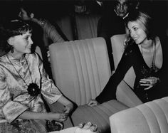 Mia and Sharon at a premiere of Rosemary's Baby