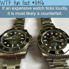 How to tell if a watch is fake - WTF fun facts