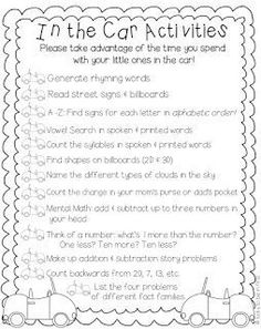 """Literacy Night_Lucky to Be in First! freebie to send home with parents. """"In the Car Activities"""".perfect for curriculum night or conferences to help parents find a way to work with their kids Parent Teacher Communication, Parent Teacher Conferences, Parent Involvement Ideas, Parent Notes, Parent Night, Letter To Parents, Parents As Teachers, Parent Letters, Parent Board"""